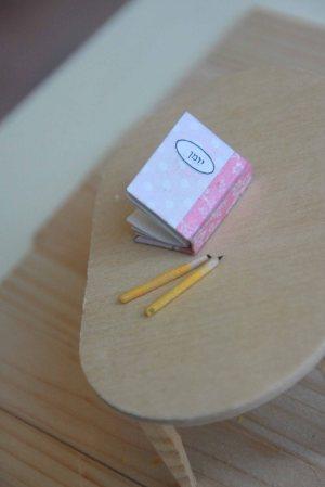 יומן ועפרונות מיניאטוריים