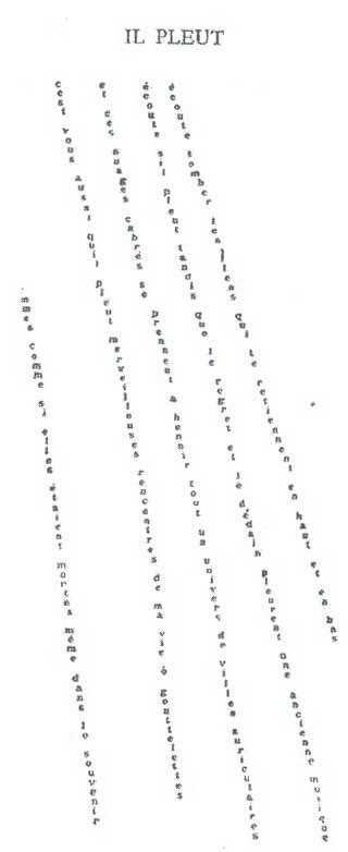 אפולינר- שיר גשם גרפי
