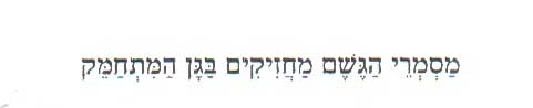 ישראל אלירז- מסמרי הגשם 2