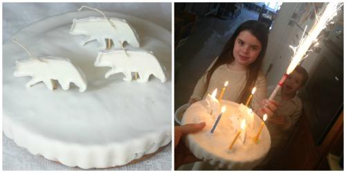 עוגת נרות דובים